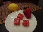 pink lemon squares
