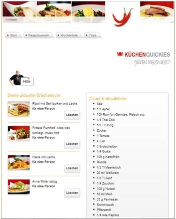 Küchenquickies - Wochenliste