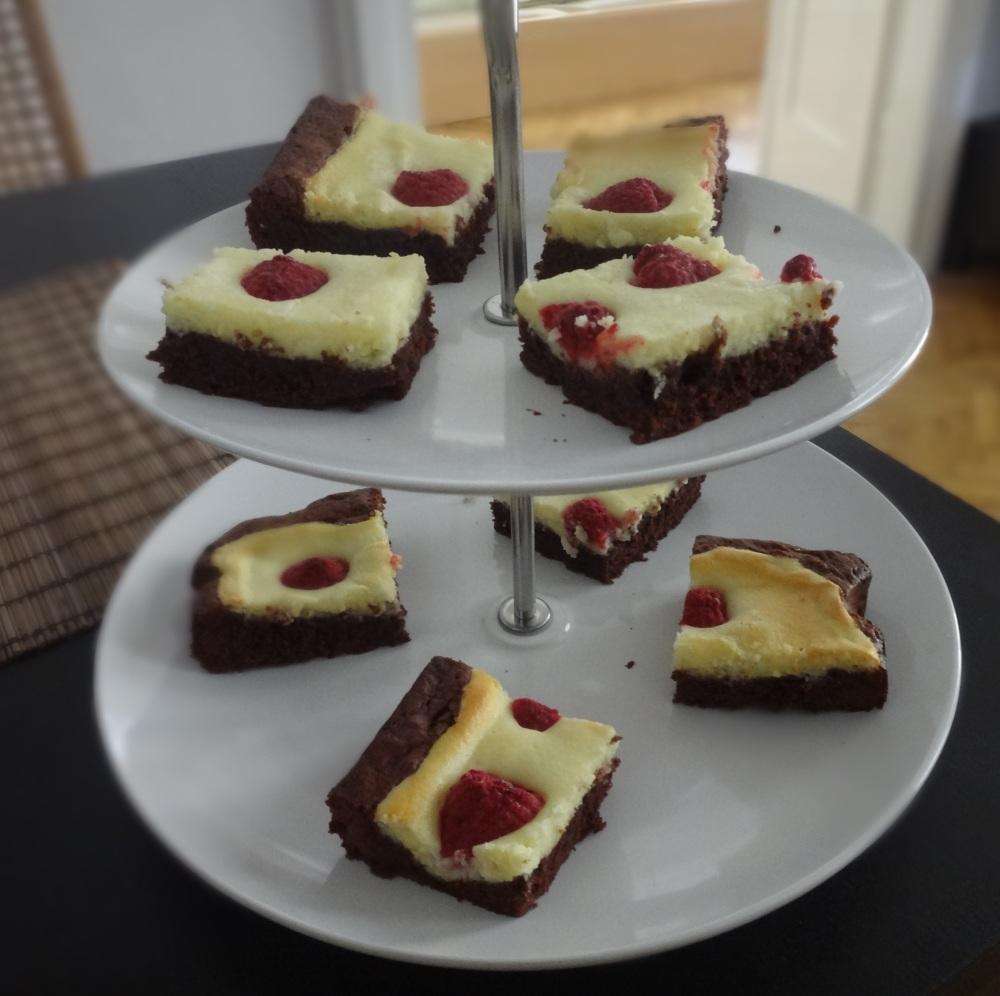 himbeer cheese cake brownie