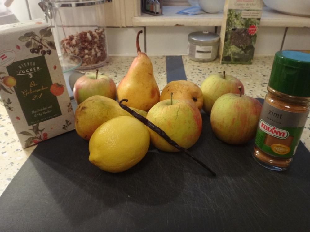 zutaten apfel-birnenmarmelade