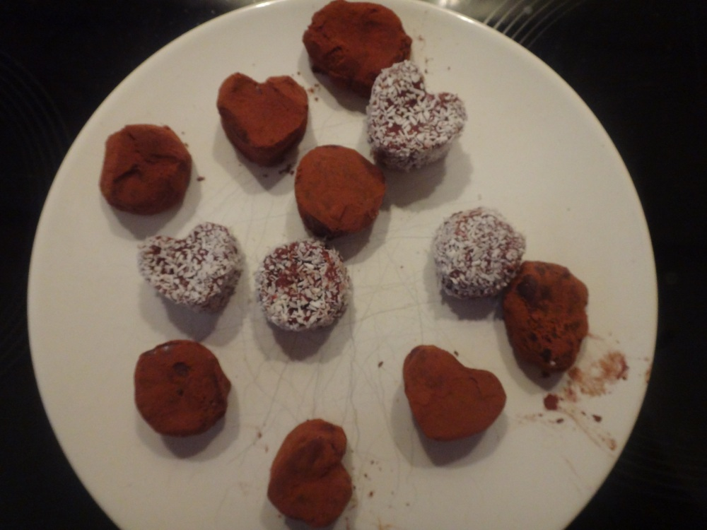 schokoladen himbeer trüffel