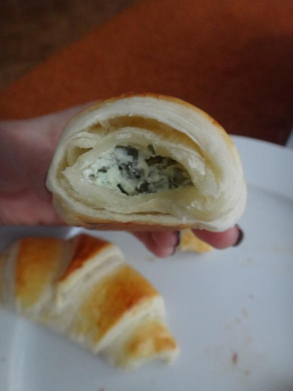 pikante bärlauch croissants