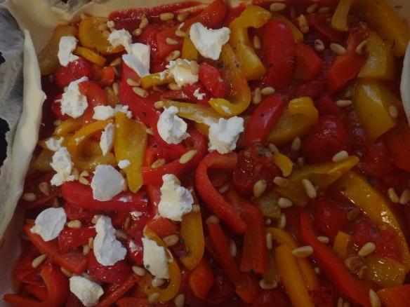 paprika tomaten tarte fast fertig