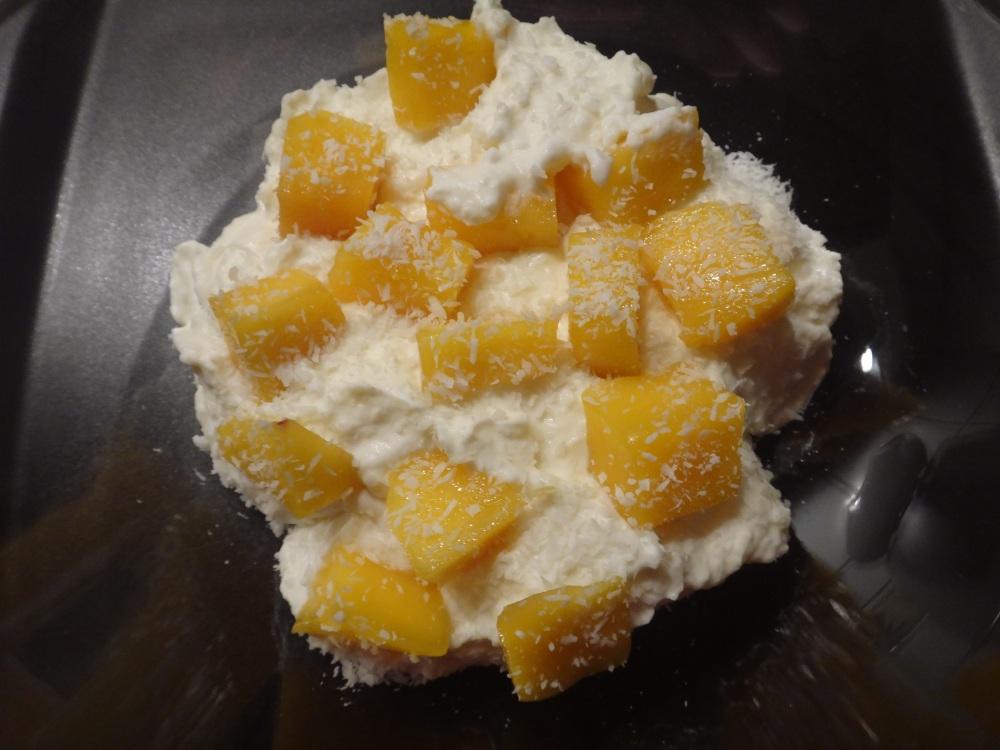 kokoscreme mit mango