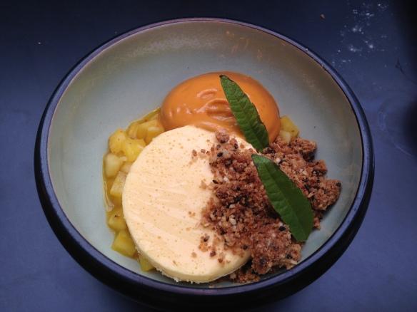 passionsfrucht mit karamell und mango