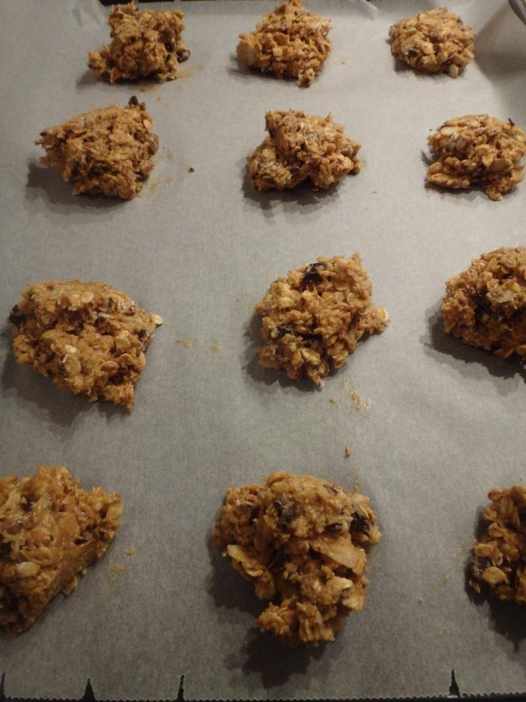 cookies mit kokosnuss, haferflocken & schoko