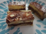chocolate swirl cheesecake bar