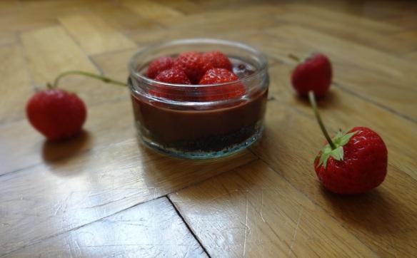kleine erdbeer schoko oreo tarte