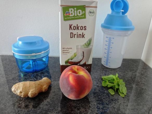 zutaten pfirsich kokos shake