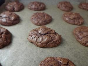 gebackene brownie cookies