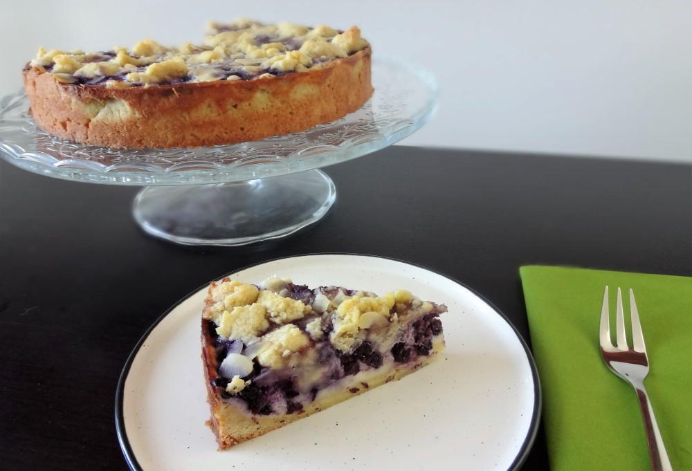 heidelbeer cheescake streusel tarte