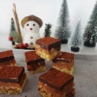 weihnachtskekse - schoko karamellwürfel