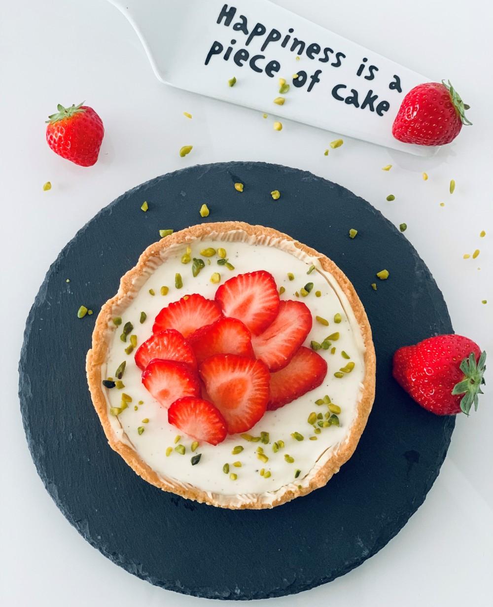 erdbeer cheesecake tartelette
